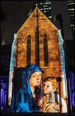 Projected Image on to St Stephens Chapel -7=