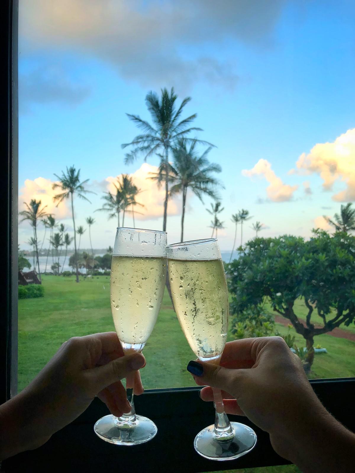 Hilton Garden Inn Kauai Wailua Bay Champagne Cheers