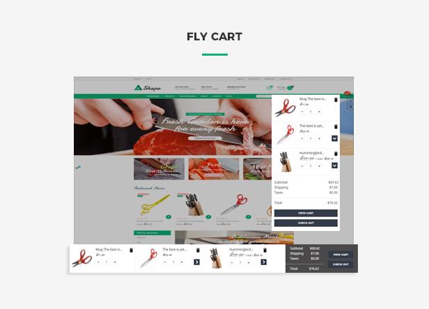 Ap Sharp Responsive Prestashop Tool Theme - Flying ajax cart