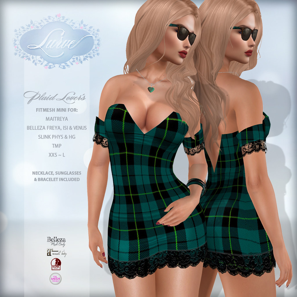 *Lurve* Plaid Lover's Mini in Aqua - TeleportHub.com Live!