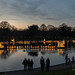 Sefton Park Lake with the City of Light 2019 instalation. Floating City of Light, Liverpool