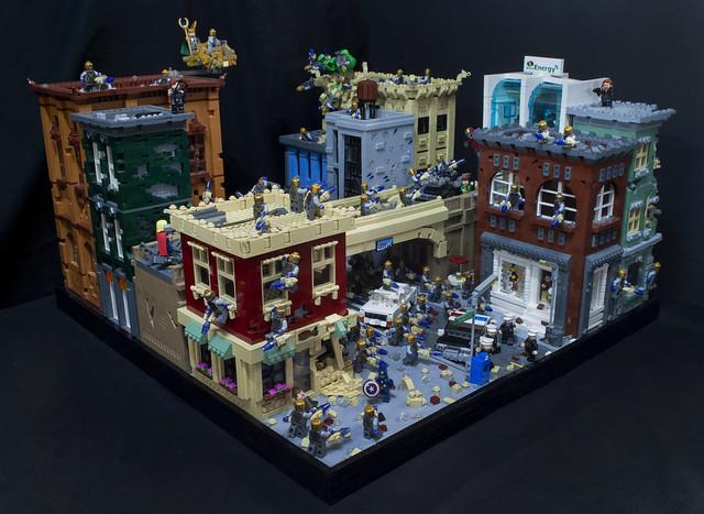LEGO Avengers diorama