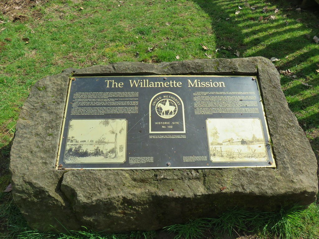 Marker for the Willamette Mission