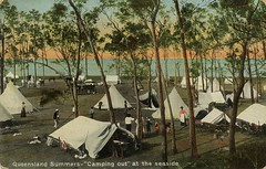 Camping ground on the foreshore Queensland
