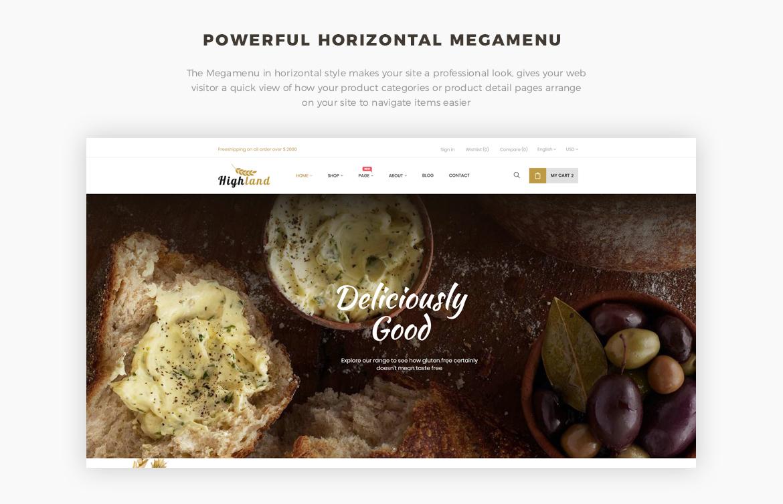 horizontal mege menu - Bos Highlands - Food and Drink Prestashop Theme