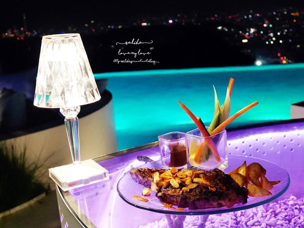 台北陽明山夜景景觀餐廳THETOP屋頂上池畔座位好吃餐點義大利麵牛排排餐德國豬腳推薦 (2)