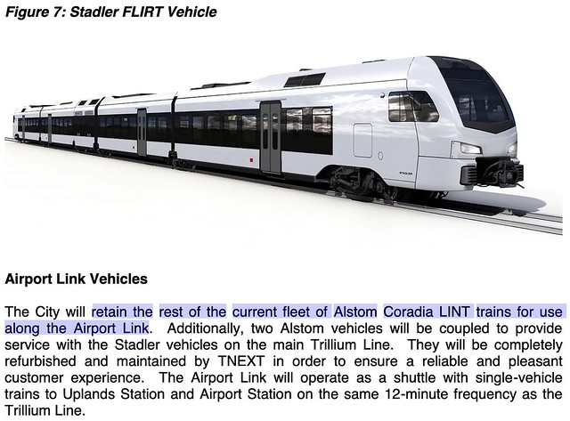 Figure 7 Stadler FLIRT and Airport Link Vehicles