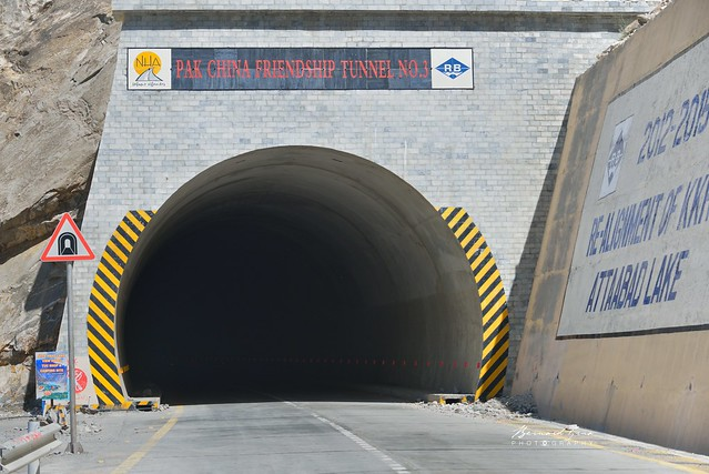 Pakistan China Friendship Tunnel N°3 - Un des tunnels de contrournement du lac d'Attabad