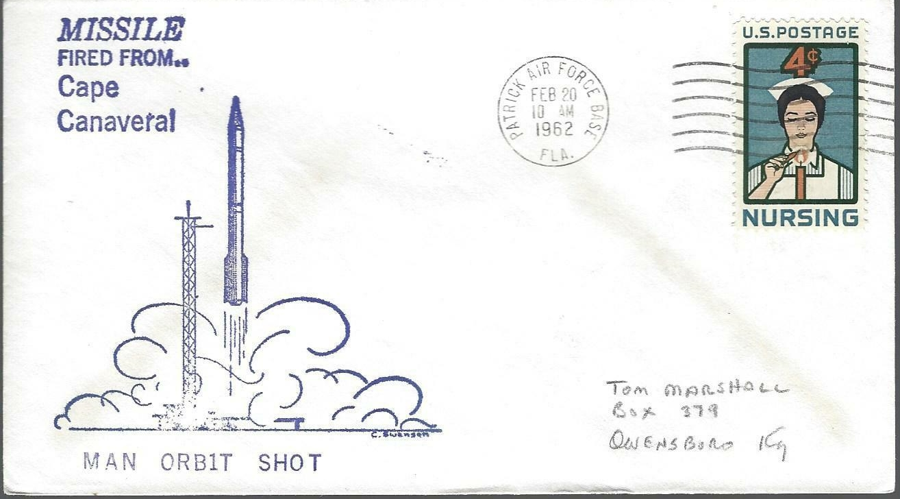 Launch day cover posted from Patrick Air Force Base (Cape Canaveral), Florida.