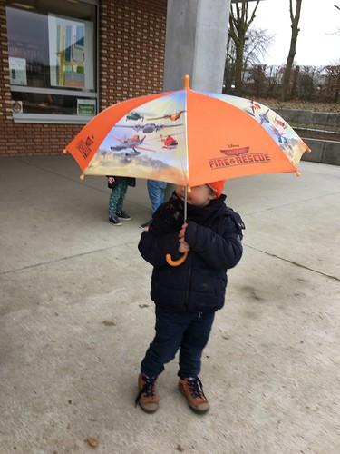 Ok En 1k Wandelen Met Paraplu