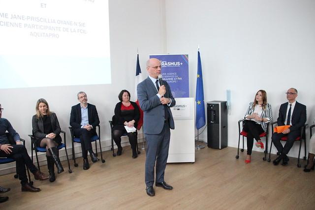 Le ministre de l'Éducation Jean-Michel Blanquer en visite à Erasmus Bordeaux