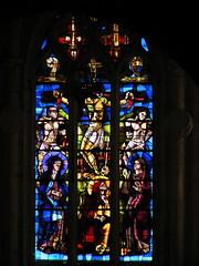 20080521 26808 Flavigny Kirche Fenster Kreuzigung - Photo of Gissey-sous-Flavigny