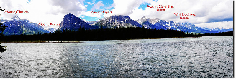 The Athabasca River and a Mountain View (Jasper National Park)