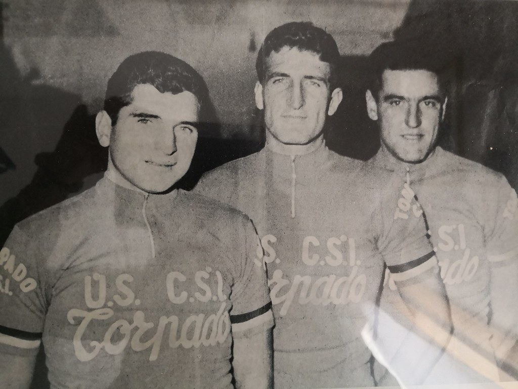 Vittorio Luisetto, Marcello Turetta e Giovanni De Franceschi - Campioni italiani di inseguimento a squadre 1962
