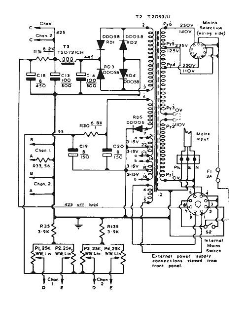 a history of radford electronics the audio standard 40 Watt Amplifier power supply circuit ma25