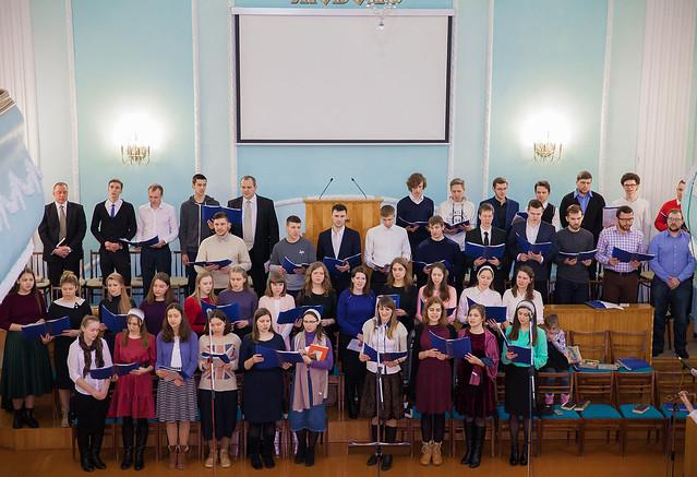 Молодёжное пение совместно с церковью из Волковыска (Февраль, 2019)