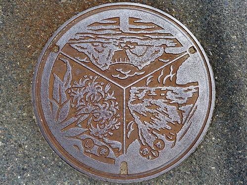 Shima Fukuoka, manhole cover (福岡県志摩町のマンホール)