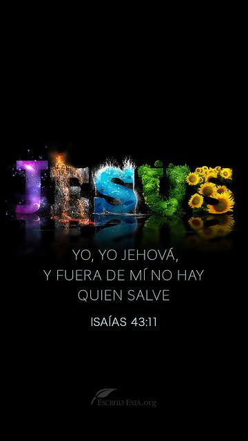 Yo, yo Jehova, y fuera de mi no hay quien salve