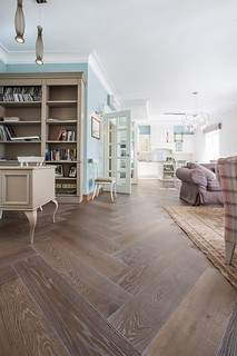 Silver Tiger parquet flooring | by uniquebespokewood