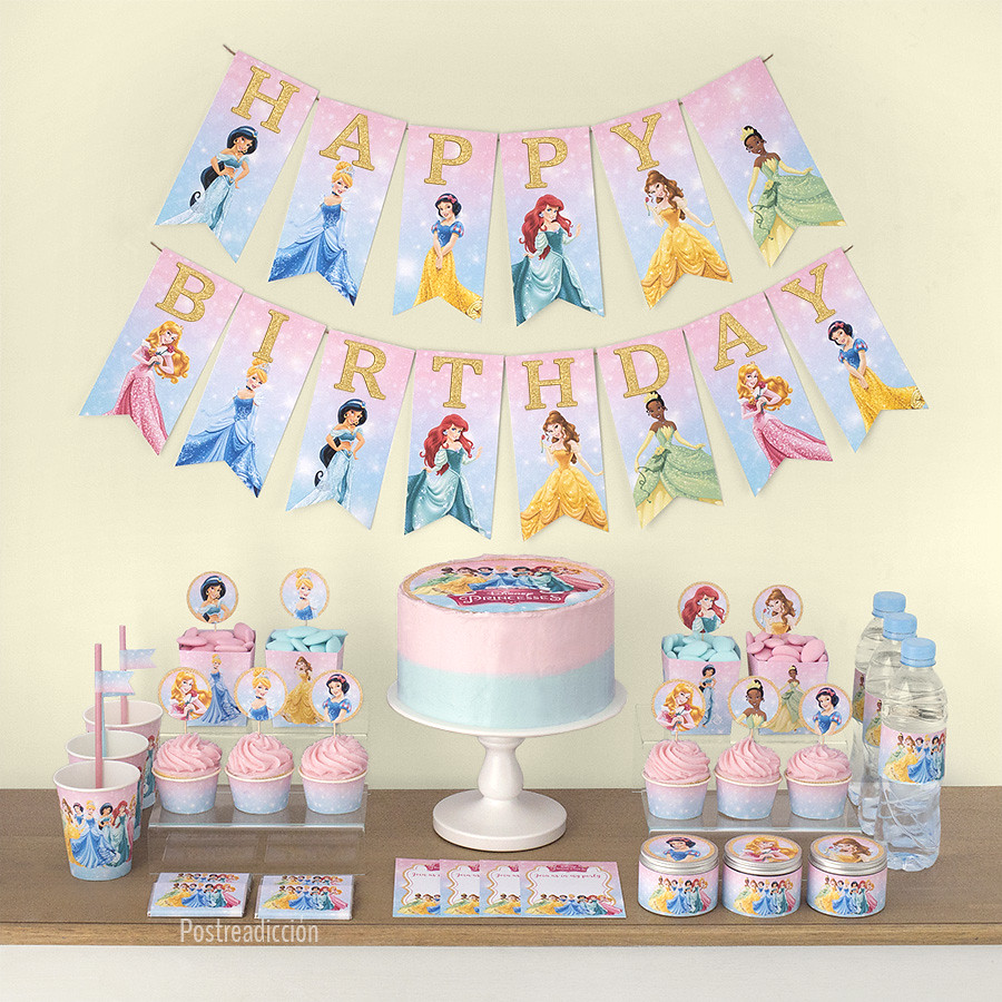 imprimible fiesta princesas disney