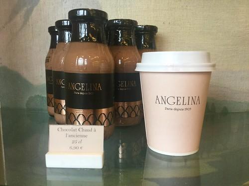Angelina, hot chocolate, map