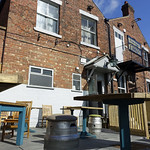 Beer garden, rear of The Black Bull, Friargate, Preston