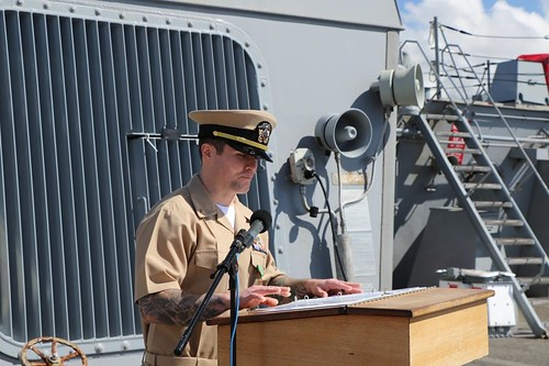 USS Paul Hamilton (DDG 60) held a ceremony March 8 to commission a former chief firecontrolman as a limited duty officer (LDO).