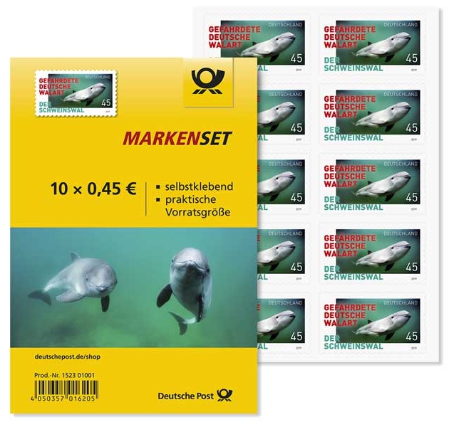 Germany - Endangered Species: Harbor Porpoises (January 2, 2019) self-adhesive booklet