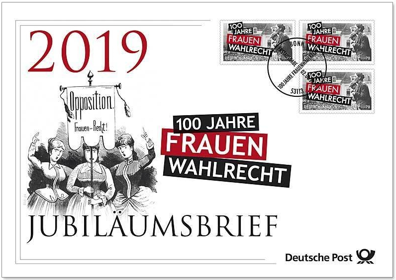 Germany - 100th Anniversary of Women's Suffrage (January 2, 2019) first day cover