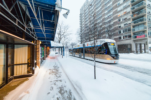 Streetcar Charging through the Snow