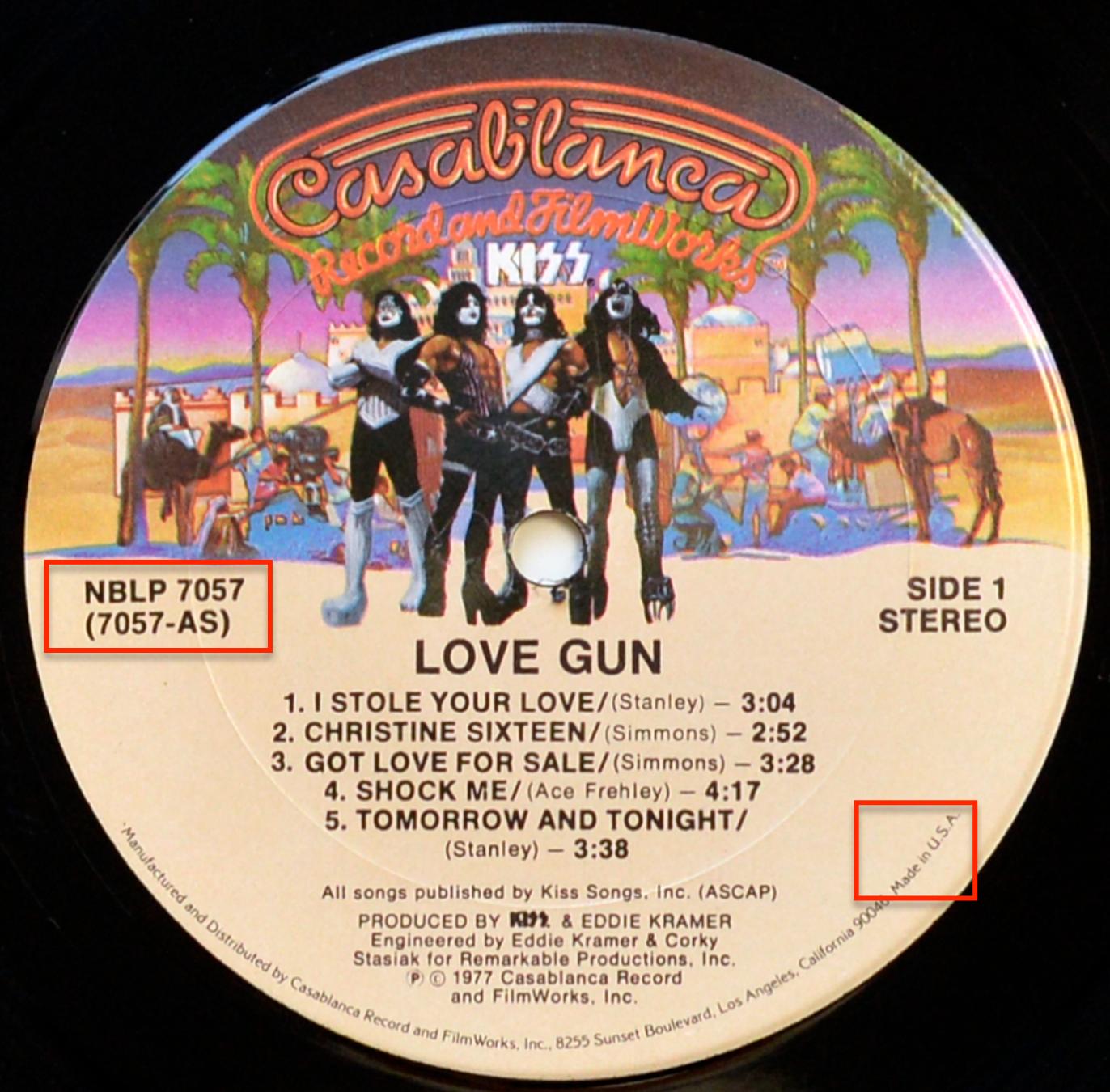 A0738 KISS Love Gun (OIS)