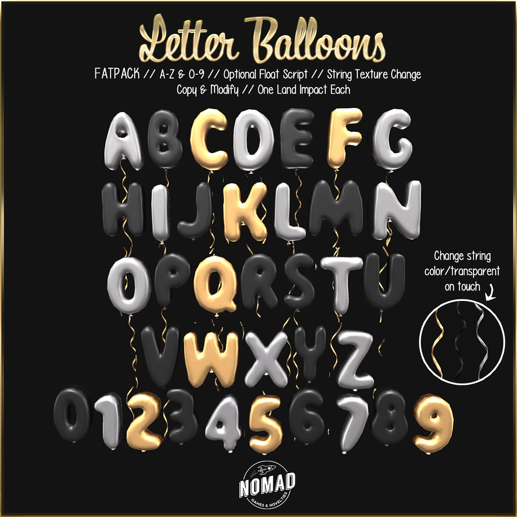 NOMAD // Letter Balloons - TeleportHub.com Live!