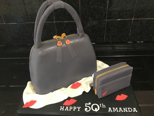 Handbag Cake by All Things Iced