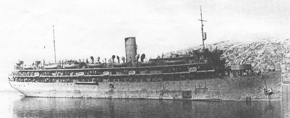 S.S. Dorchester, during her brief service as a troopship.