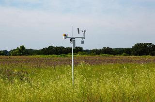 Weather Monitoring Station in a Field