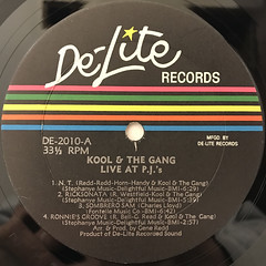 KOOL &THE GANG:LIVE AT THE P.J.'S(LABEL SIDE-A)