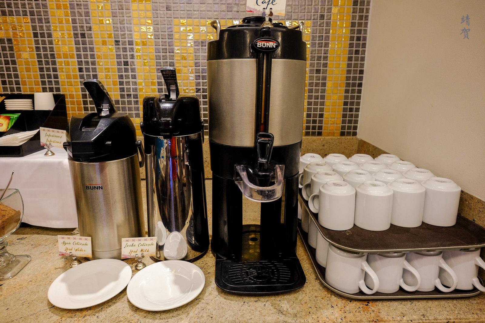 Coffee and hot water dispenser