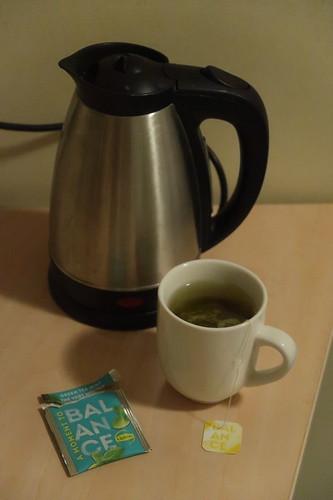 Tee (nach Nutzung der Dampfsauna im Hotel NH Atlantic Den Haag)