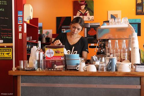 Au café-restaurant Sola, à Thames
