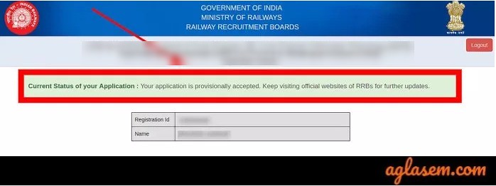 RRB NTPC Application Status Positive 2019