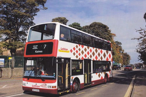 W572 RSG 'Lothian Buses' No. 572 Dennis Trident / Plaxton President on Dennis Basford's railsroadsrunways.blogspot.co.uk'