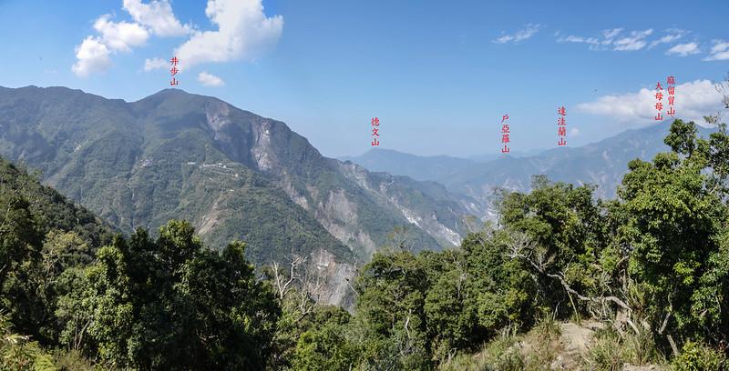 亞泥笛山腰(1420 m)西北眺群山 1-1