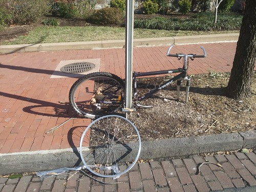 Another example of the need for a wide range of better bicycle parking options