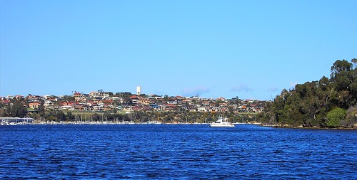 Perth. The Swan River between Perth and Fremantle.