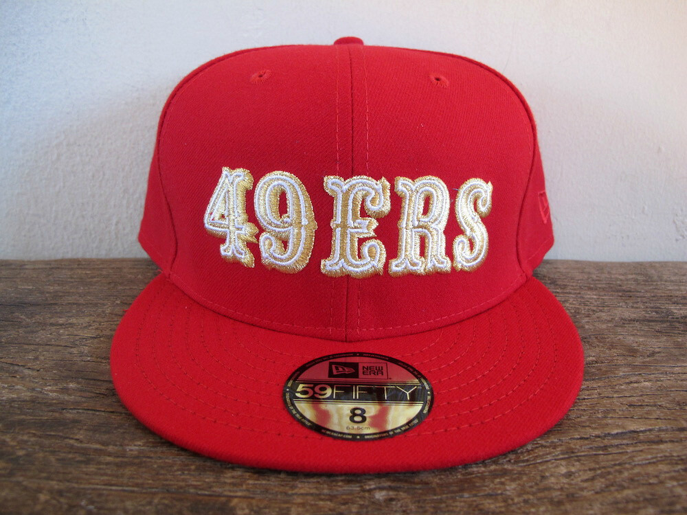 cac4ddbc5 Details about RARE San Francisco 49ers 80 s Logo New Era 59FIFTY fitted cap  sz 8   giants vtg