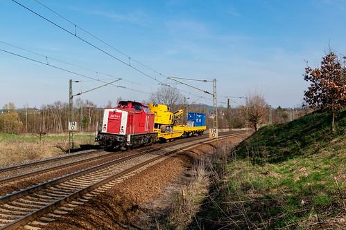 202 743 mit DGV 68767 (Chemnitz-Frankfurt am Main) am 29.03.2019 in Gesau