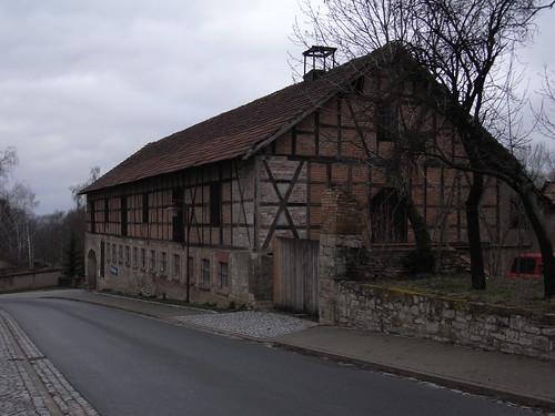 20110318 0205 199 Jakobus Ollendorf Straße Fachwerkhausfassade