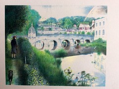 Coloured Pencil Drawings On White Card .