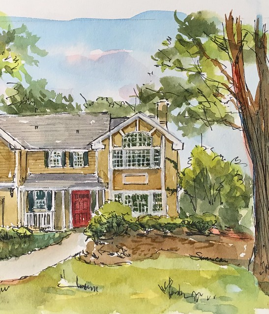 Detail of commissioned house sketch