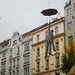 Surprise statue - Landing for coffee - Prague